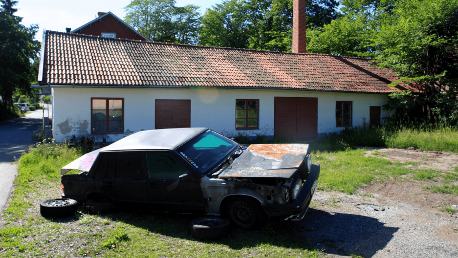 an abandoned school in sweden