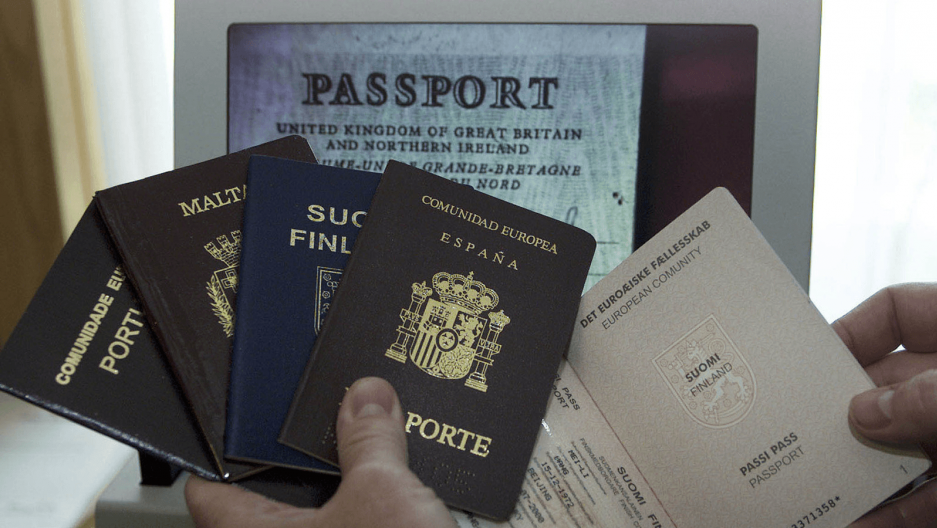 passports from several countries