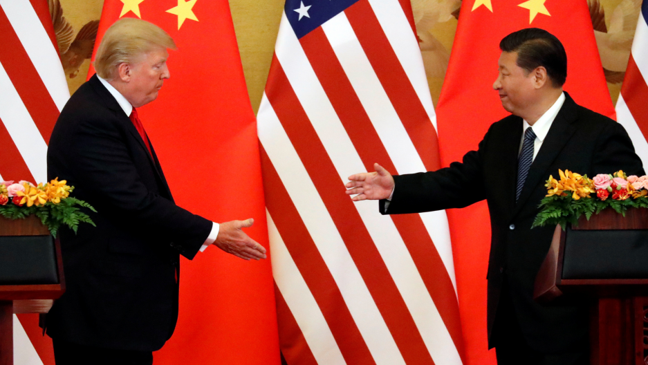 Trump meets with Jinping in China