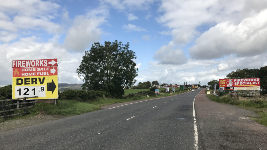 an unmarked border between Ireland and Northern Ireland