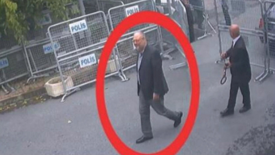 Still image taken from CCTV claims to show Saudi journalist Jamal Khashoggi