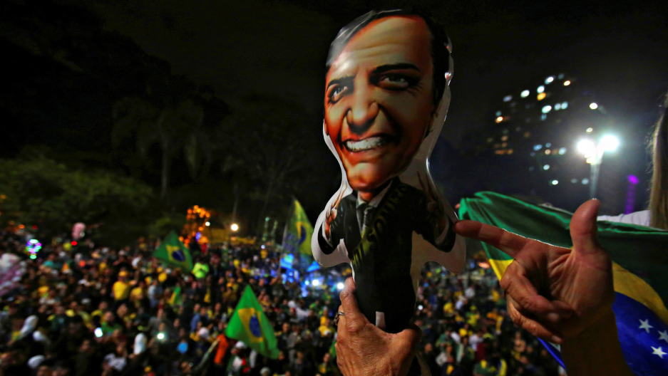 brazilian supporters of president-elect jair bolsonaro