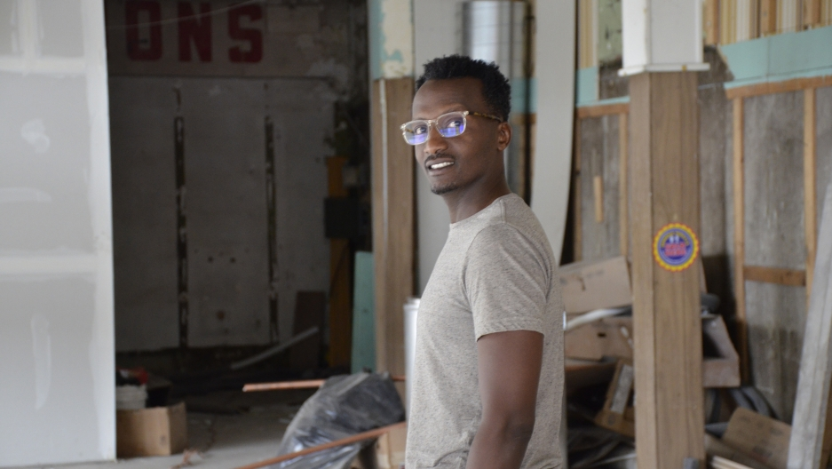 78ba1ef70e Hamissi Mamba walks through the guts of what will be his new restaurant,  Baobab Fare