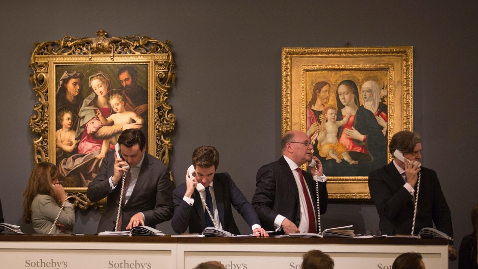 An art auction at Sotheby's.