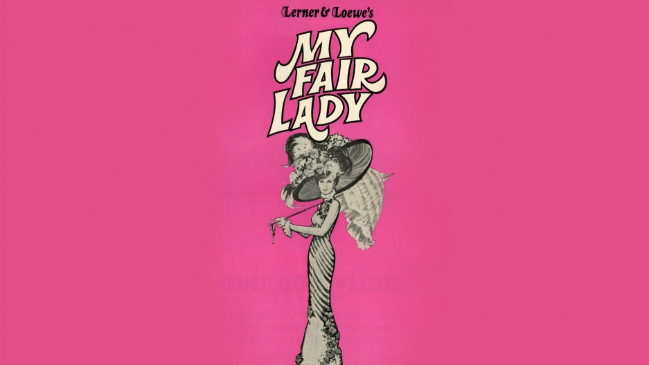 "A 1970s poster for the musical ""My Fair Lady."""