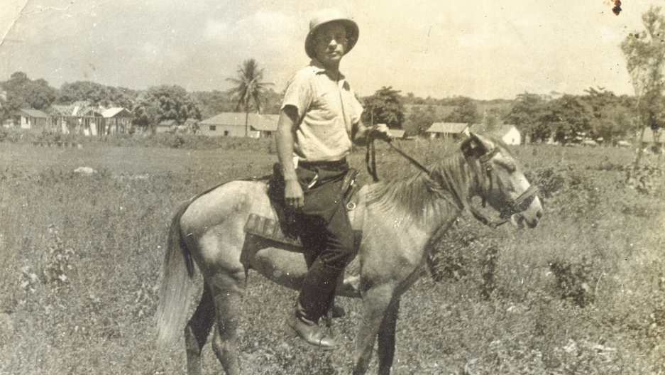 The Dominican Republic took in Jewish refugees fleeing Nazi Germany in exchange for a promise to develop the land. Franz Blumenstein rides a donkey in Sosúa, Dominican Republic, 1940.