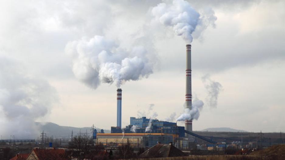 Coal plant emission