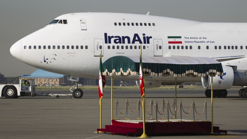 A IranAir Boeing 747SP aircraft is pictured before leaving Tehran's Mehrabad airport September 19, 2011.