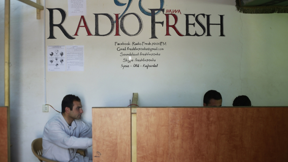 the  sign of the Radio Fresh station