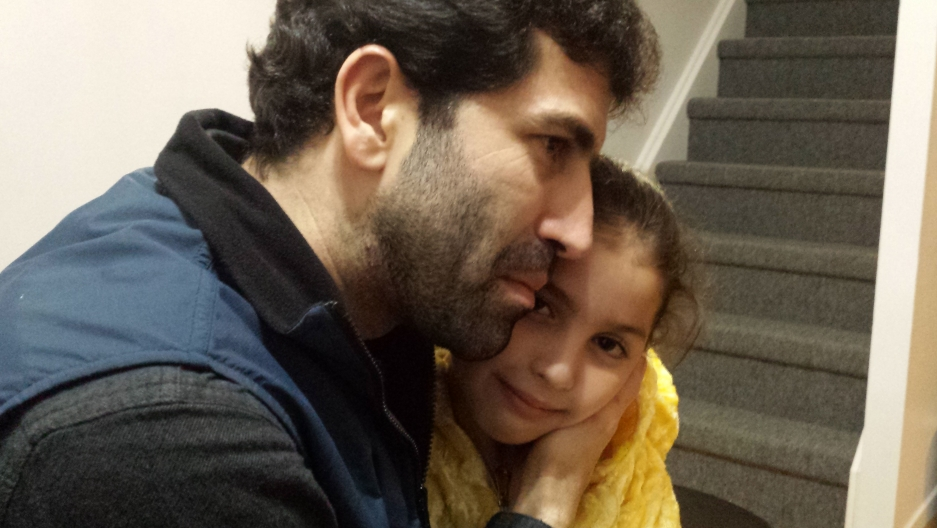 Hamzeh Mourad and his daughter, Houda. The Syrian family arrived in Canada last December with nothing but their clothes and $800.