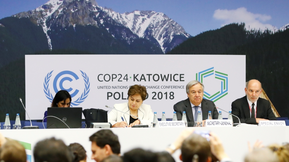 COP 24 session in Katowice, Poland