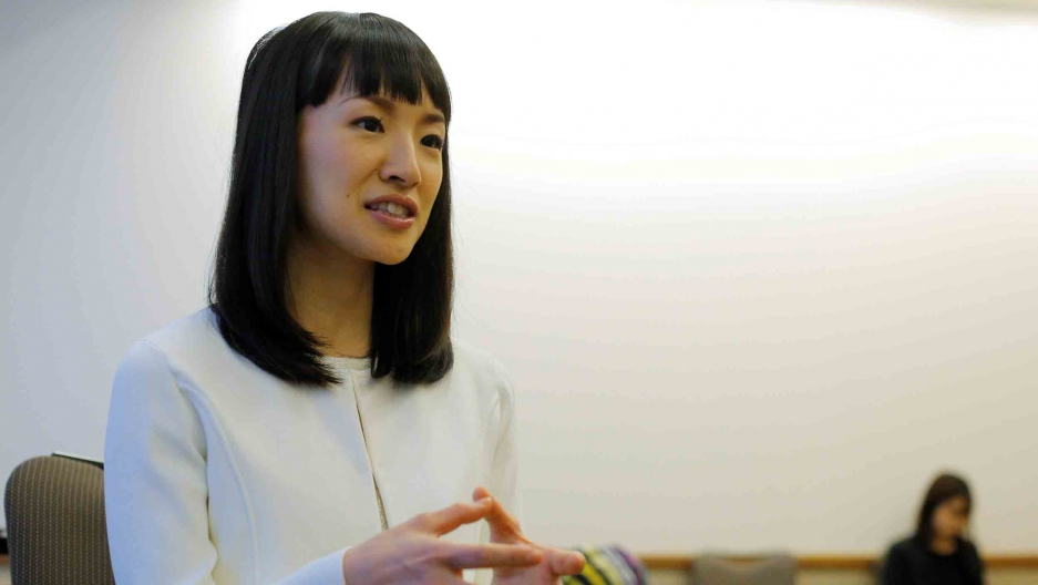 Marie Kondo speaks during an interview