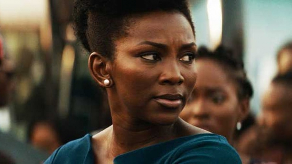 Side profile of Nigerian actress Genevieve Nnaji.