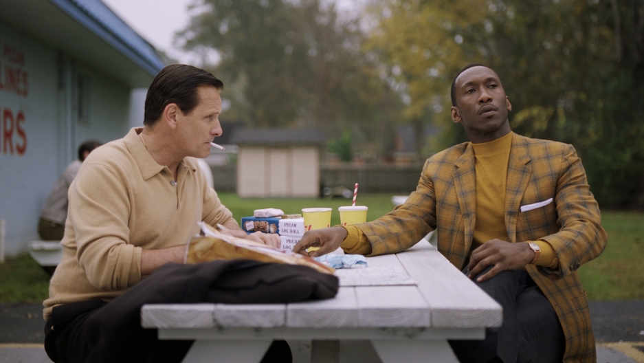 "Viggo Mortensen and Mahershala Ali in ""Green Book"""