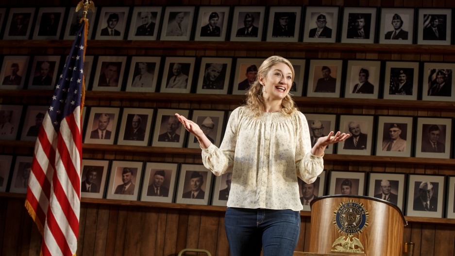 "Heidi Schreck in ""What the Constitution Means to Me"" at New York Theatre Workshop."