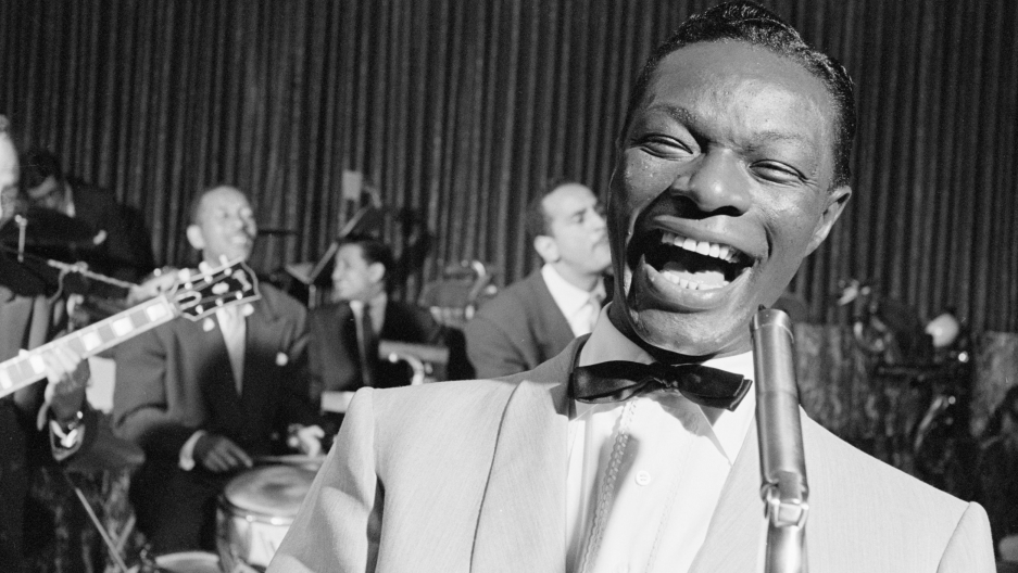 Nat King Cole performs in Chicago in 1954.