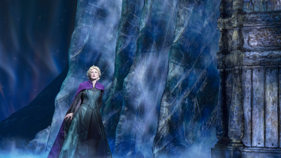"Caissie Levy as Elsa in ""Frozen"" on Broadway."