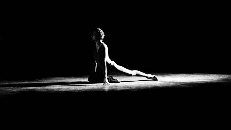 Merce Cunningham performs in 1972.