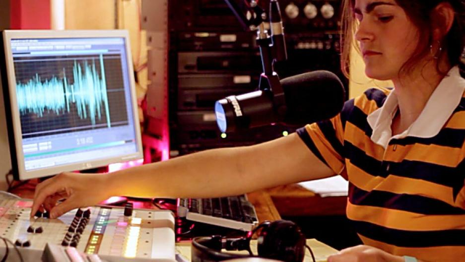 WMMT-FM DJ Sylvia Ryerson.