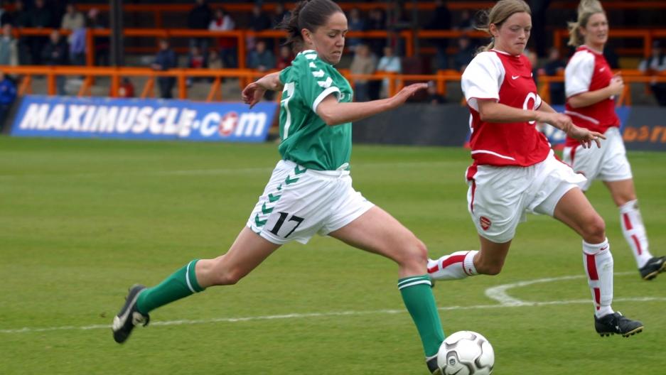 Ciara McCormack plays soccer