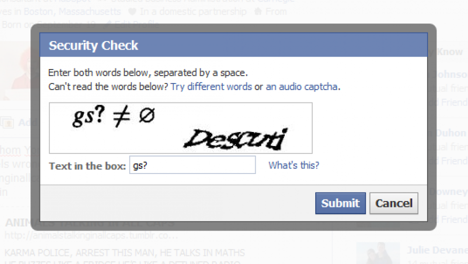 CAPTCHAs are supposed to separate humans from robots online