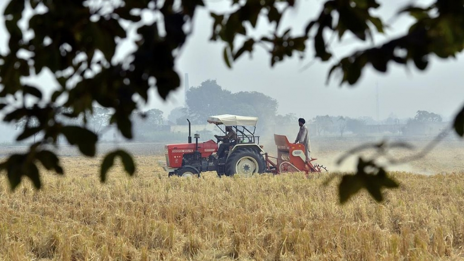 Tractor farming in India