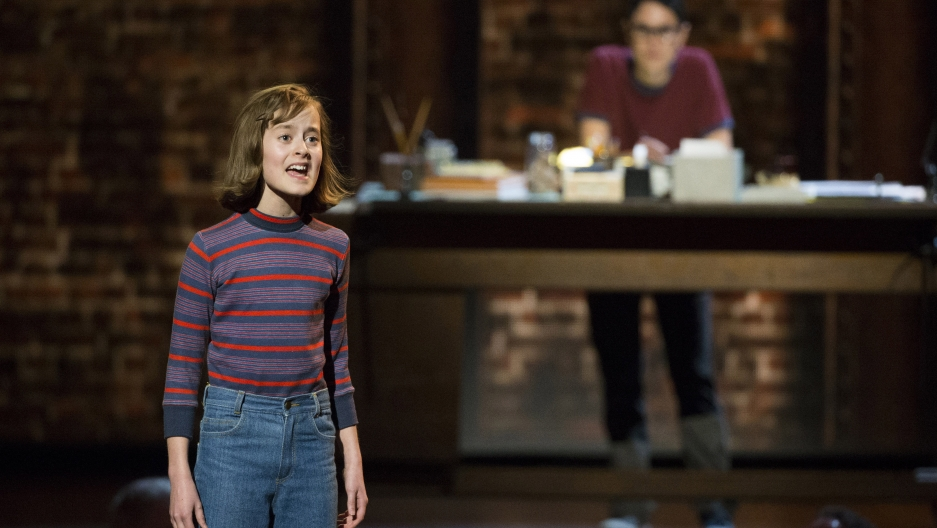 """Sydney Lucas in """"Fun Home"""" during the Tony Awards in New York June 7, 2015."""