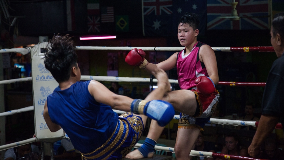 In Thailand, kickboxing is becoming more popular with women