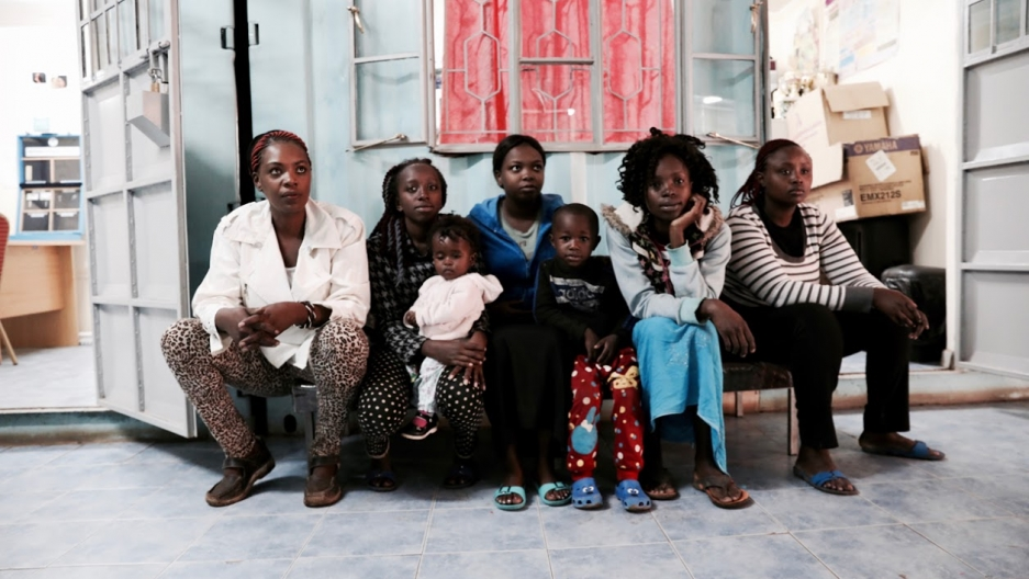 Kenyan women wait to receive family planning and reproductive health services at the Family Health Options Kenya