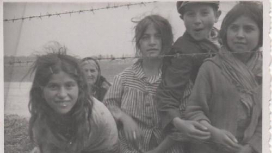 Roma prisoners in a concentration camp in the Transnistria region.