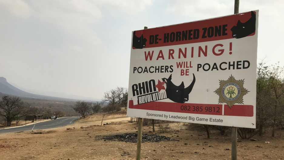 an anti-poacher billboard