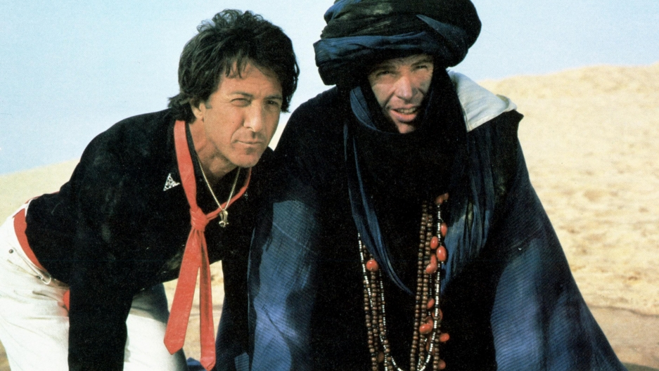 "Dustin Hoffman and Warren Beatty in the film ""Ishtar."""