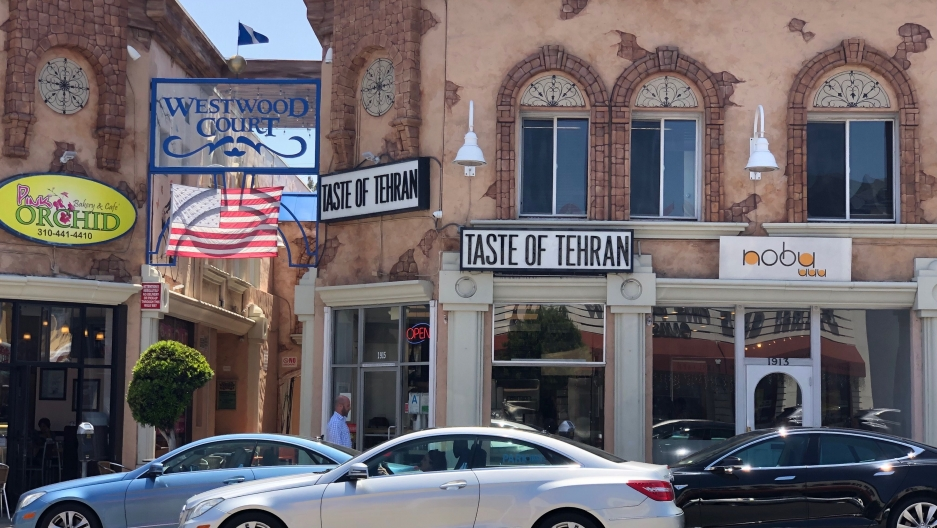 Iranian American businesses in Westwood, Los Angeles, California.