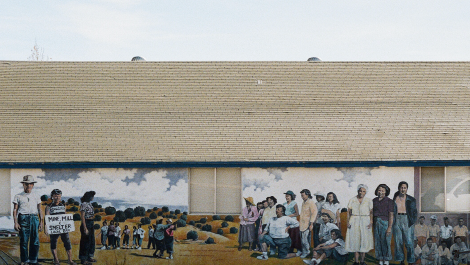 A mural commemorating the Empire Zinc strike in Bayard, New Mexico.
