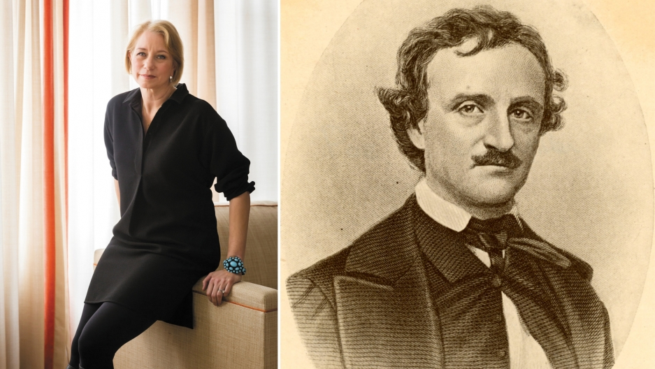 Laura Lippman and Edgar Allan Poe.