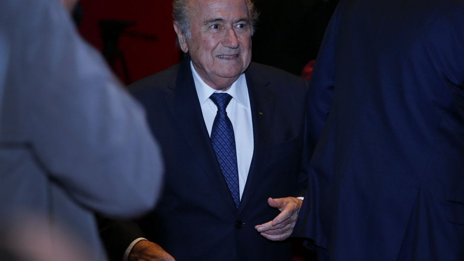 Longtime FIFA President Sepp Blatter at the annual FIFA meeting in Switzerland.