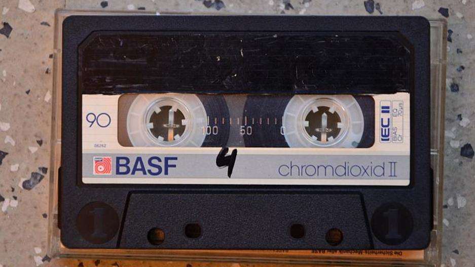 "The cassette where ""The Most Mysterious Song on the Internet"" was found."