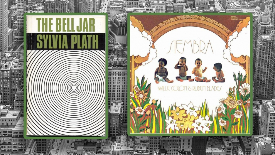 "The New York album ""Siembra"" and the New York book ""The Bell Jar."""