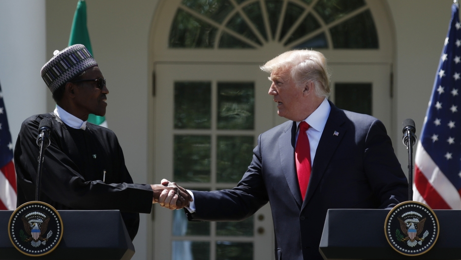 Trump-Buhari at White House