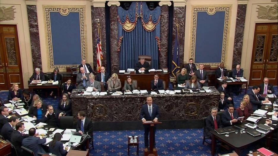 Hasil gambar untuk The Senateheard closing argumentstoday on House Democrats' sham impeachment.