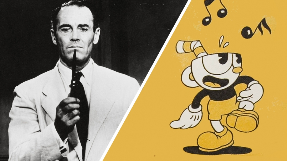 "Henry Fonda in ""12 Angry Men"" and Cuphead."