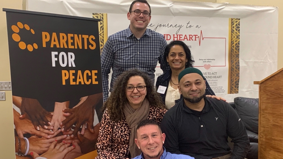The Parents For Peace team at the Islamic Center of New England in Sharon, Massachusetts.