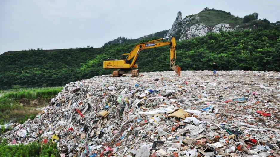 China landfill