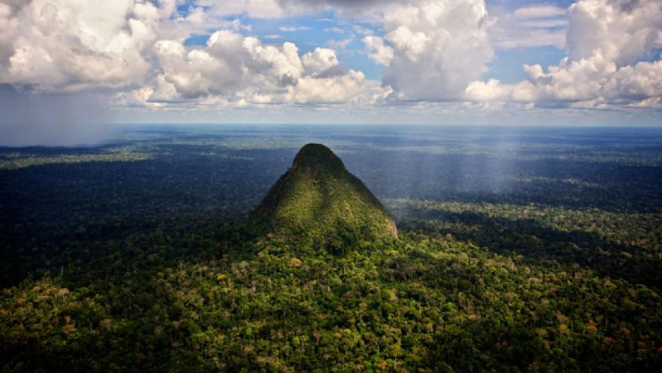 El Cono, inactive volcano in Peru