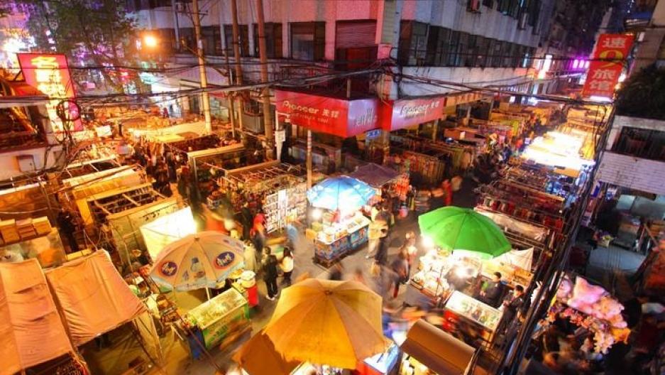 Wuhan outdoor market