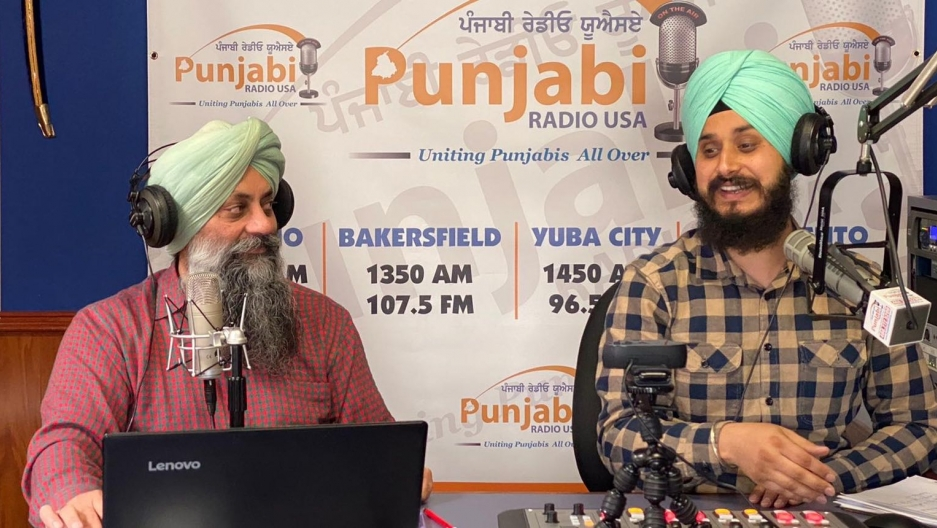 Harjot Singh Khalsa (left) and Rajkaranbir Singh are hosts of Punjabi Radio USA, which provides valuable information to immigrant workers.