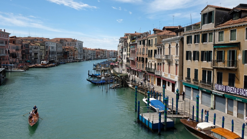 A view of the Grand Canal following the outbreak of the coronavirus disease (COVID-19) in Venice, Italy, May 24, 2020.