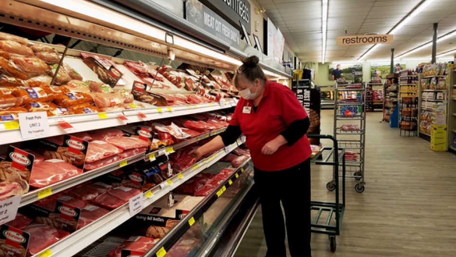 Grocery meat aisle