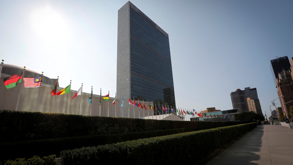 TheUnited Nations headquarters is seen during the 75th annual UNGeneralAssemblyhigh-level debate, which is being held mostly virtually due to the coronavirus disease (COVID-19) pandemic, in New York, US, Sept.21, 2020.