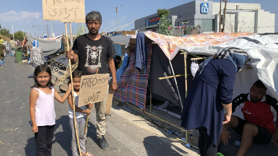 Approximately 12,000 migrants were displaced in the fire last week that devastated Moria camp on the Greek island of Lesbos.